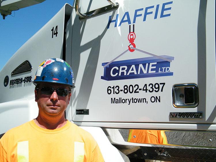 Jeff Haffie - Owner - Haffie Crane Ltd. - Mallorytown, Ontario, Canada